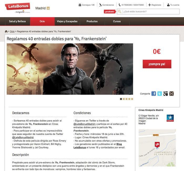 Marketing Digital en estreno de YO, FRANKENSTEIN